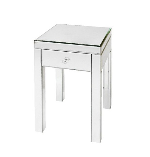 mirrored glass table