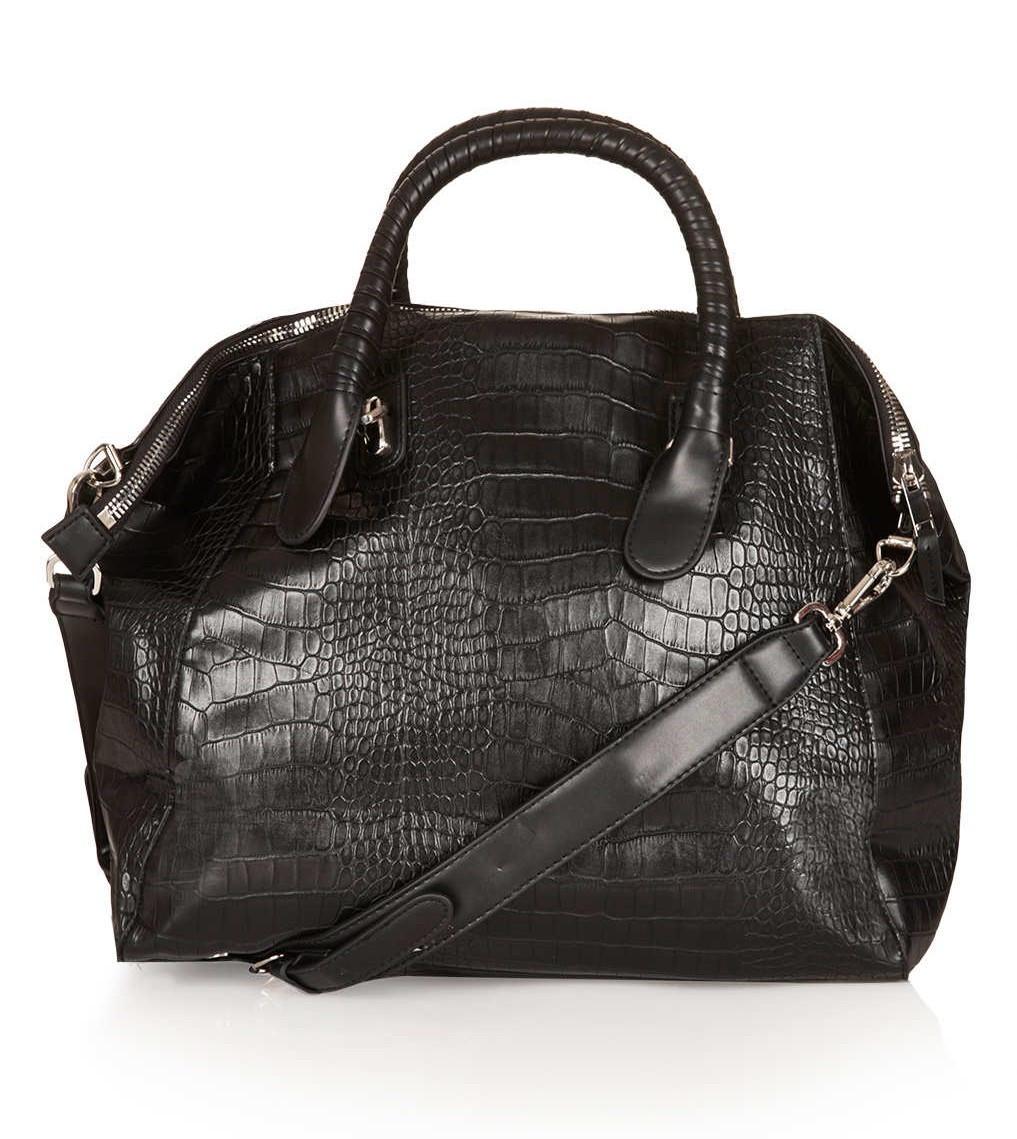 topshop cheap black holdall