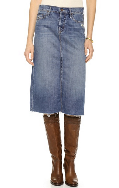 Top five of the day: denim skirts, classic and otherwise - Girls ...