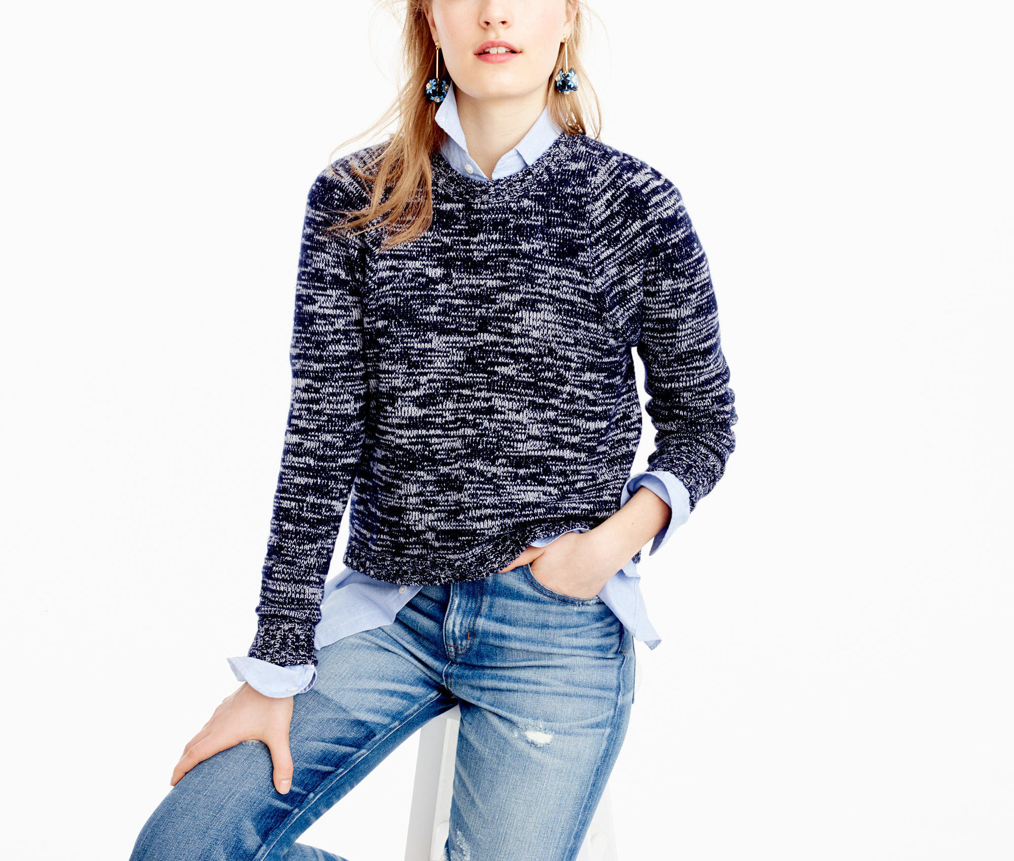 J Crew sweater—all I want to wear are crewnecks