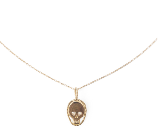 Catbird skull necklace—a bunch of good necklaces for layering