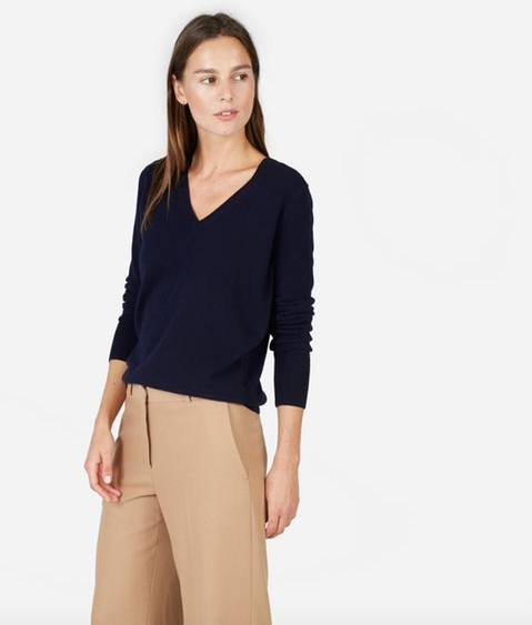 Everlane cashmere v-neck—15 wardrobe classics for $150 and under