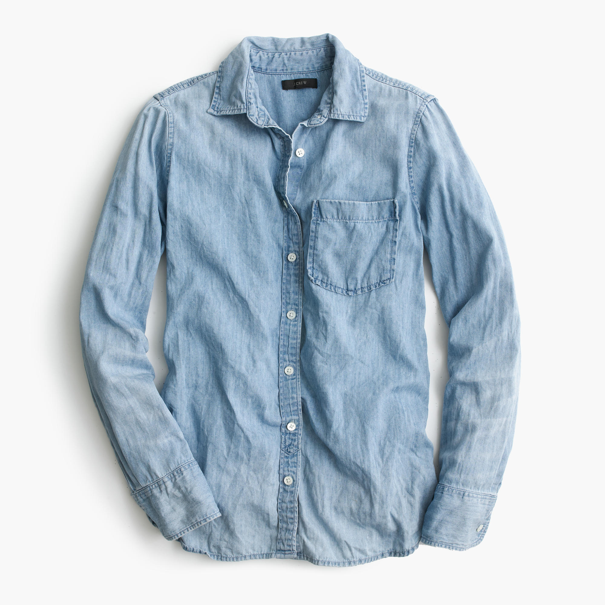 J. Crew chambray shirt—15 wardrobe classics for $150 and under