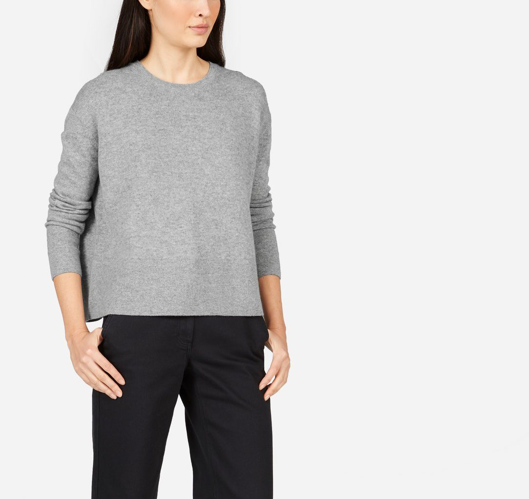 Everlane sweater—all I want to wear are crewnecks