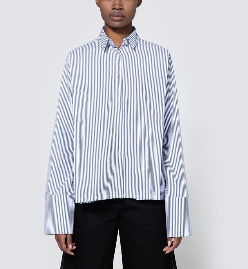 November pleated button shirt—Top 5 of the week