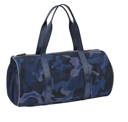 Athleta gym bag—All of a sudden, camo