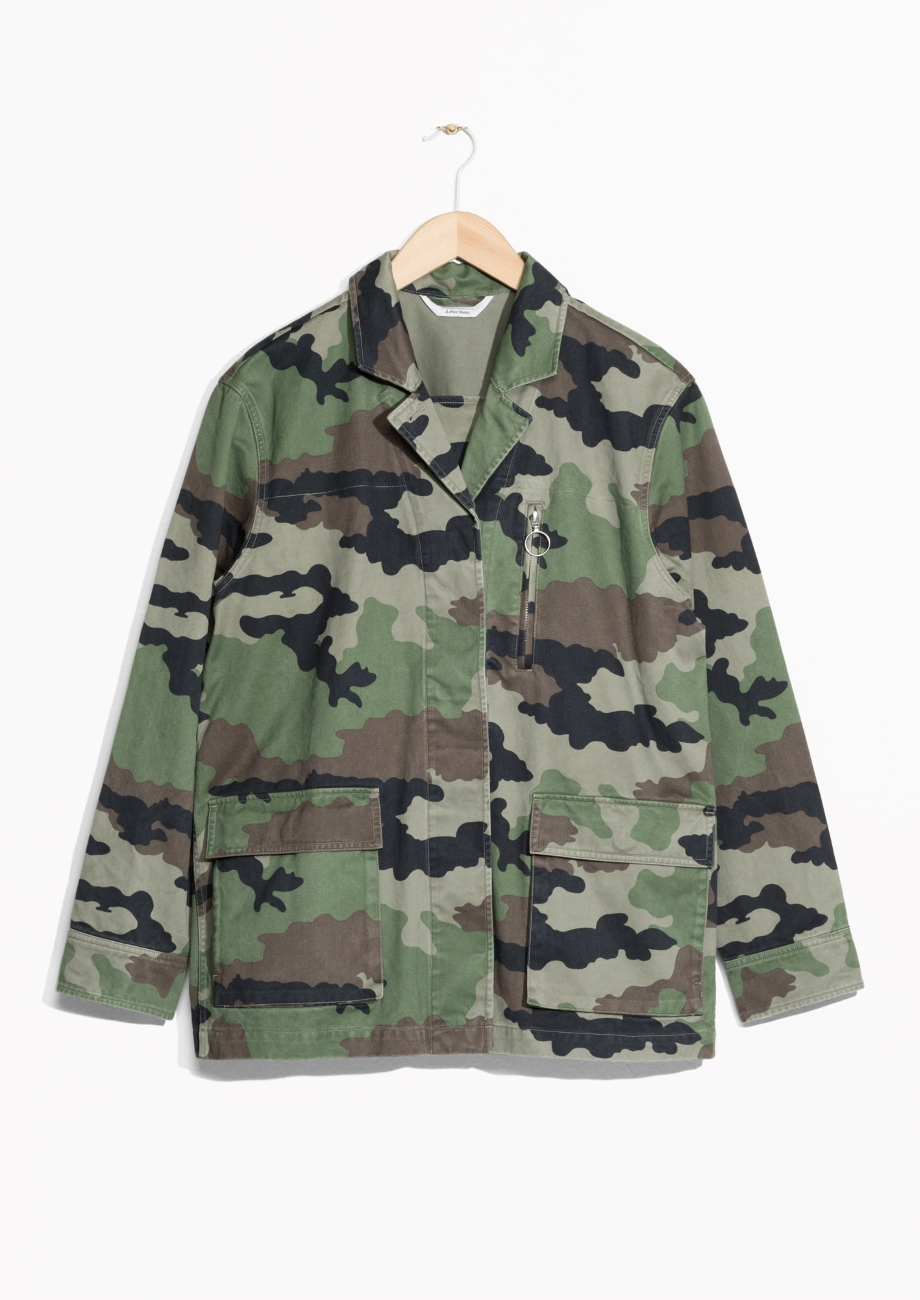 & Other stories jacket—All of a sudden, camo