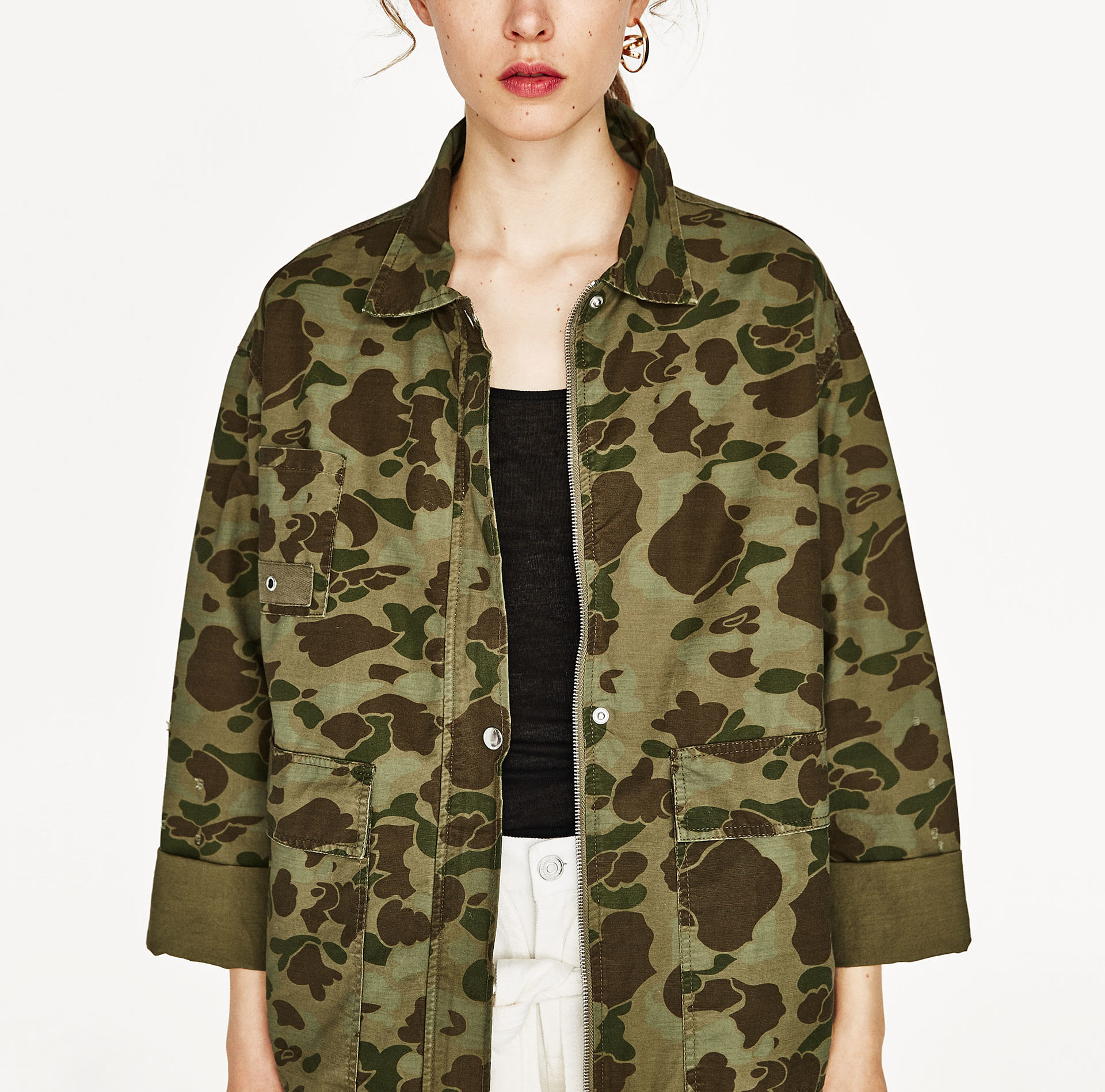 Zara camo jacket—All of a sudden, camo