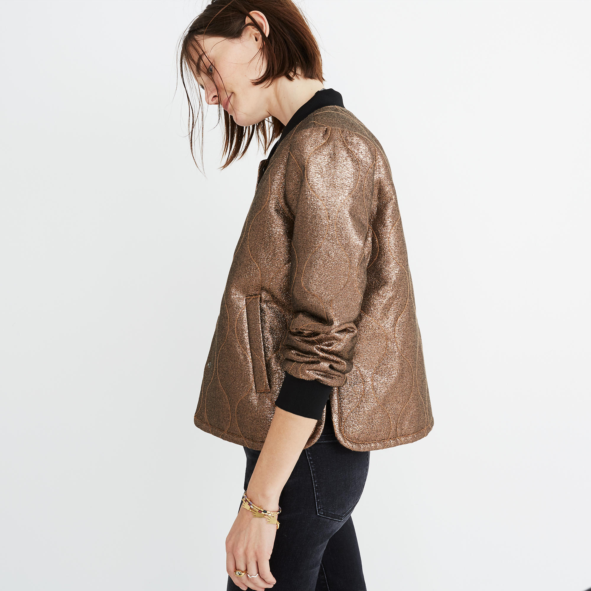 Metallic jacket Madewell