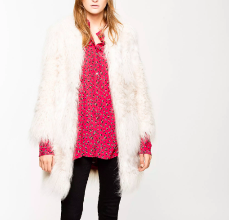 Zadig and Voltaire faux fur jacket