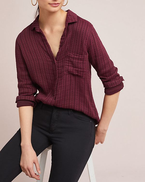 anthro button down
