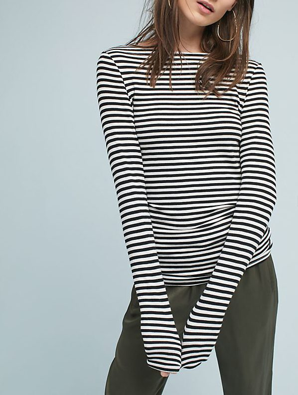 anthro striped tee