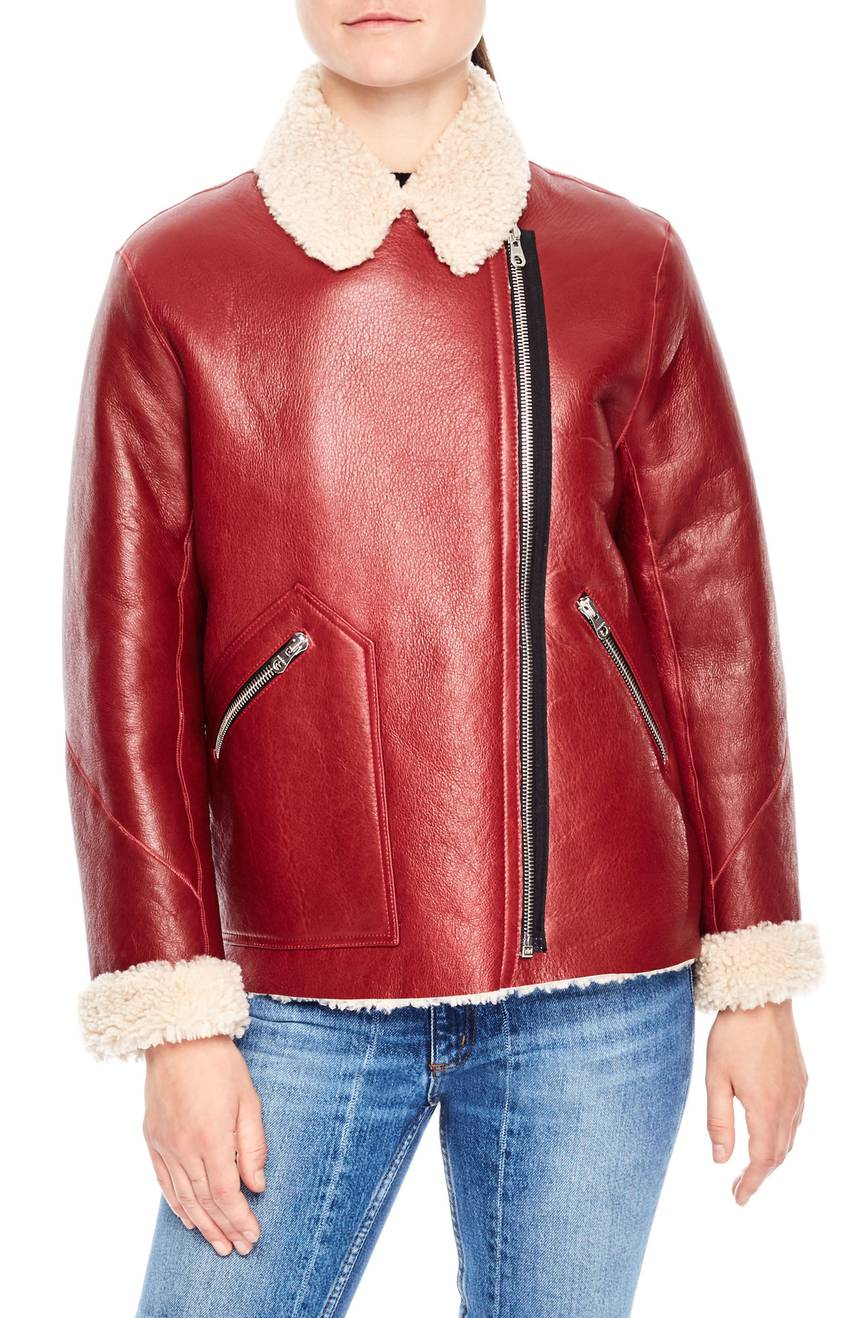 Sandro leather jacket