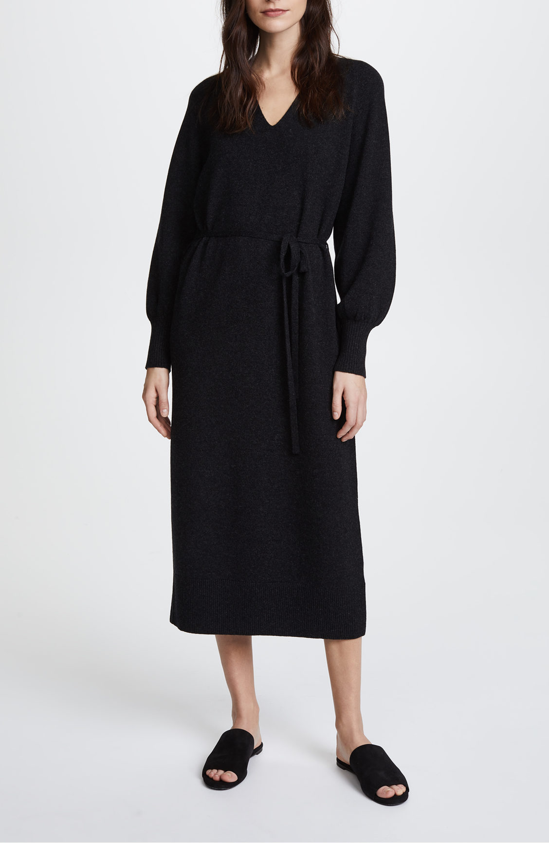 vince side slit dress