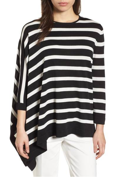 asymmetrical striped sweater