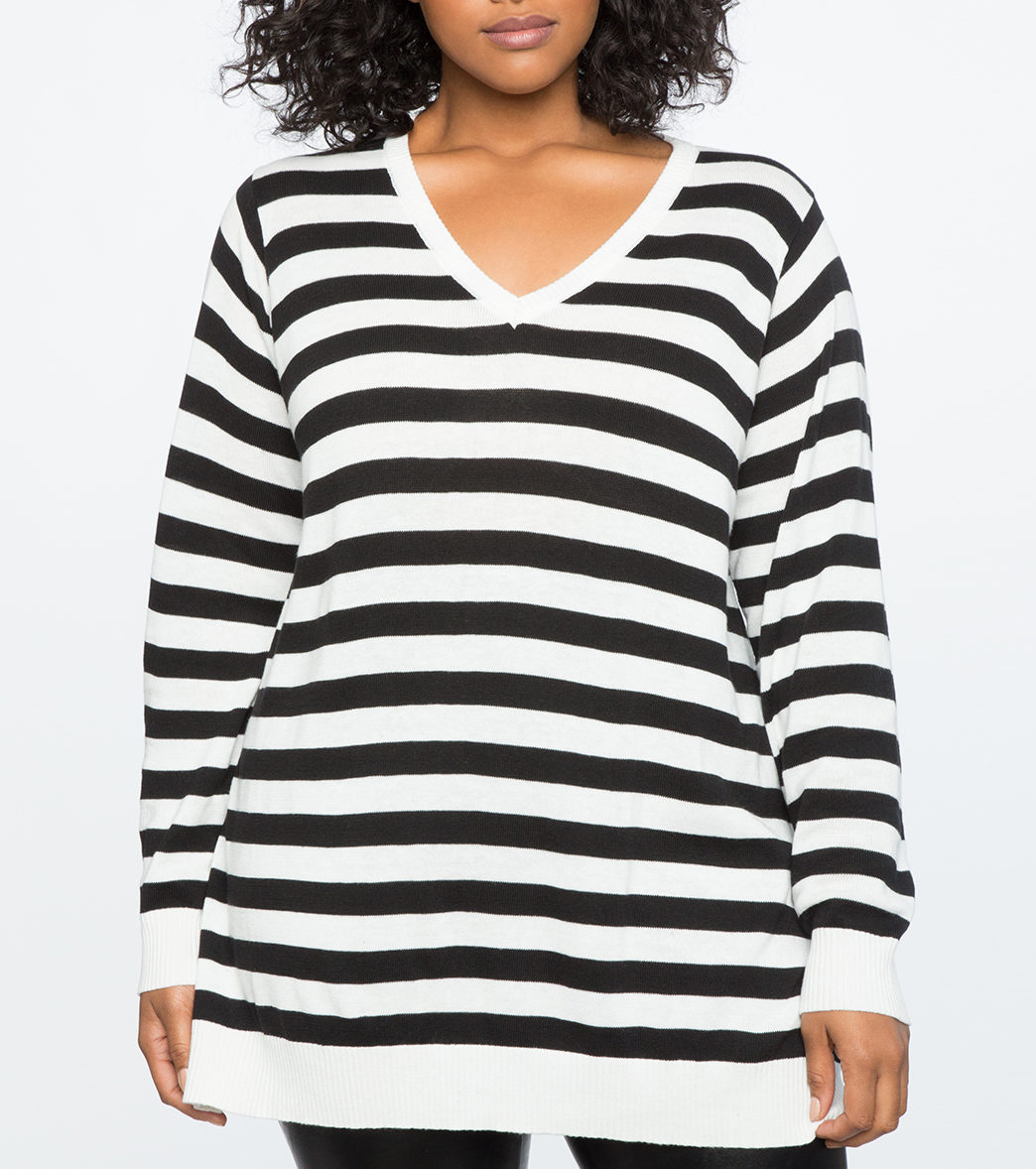 eloquii striped sweater