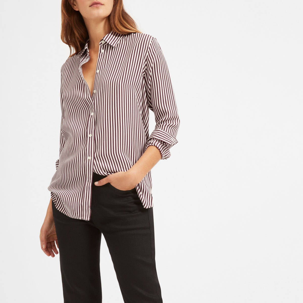 everlane silk top1
