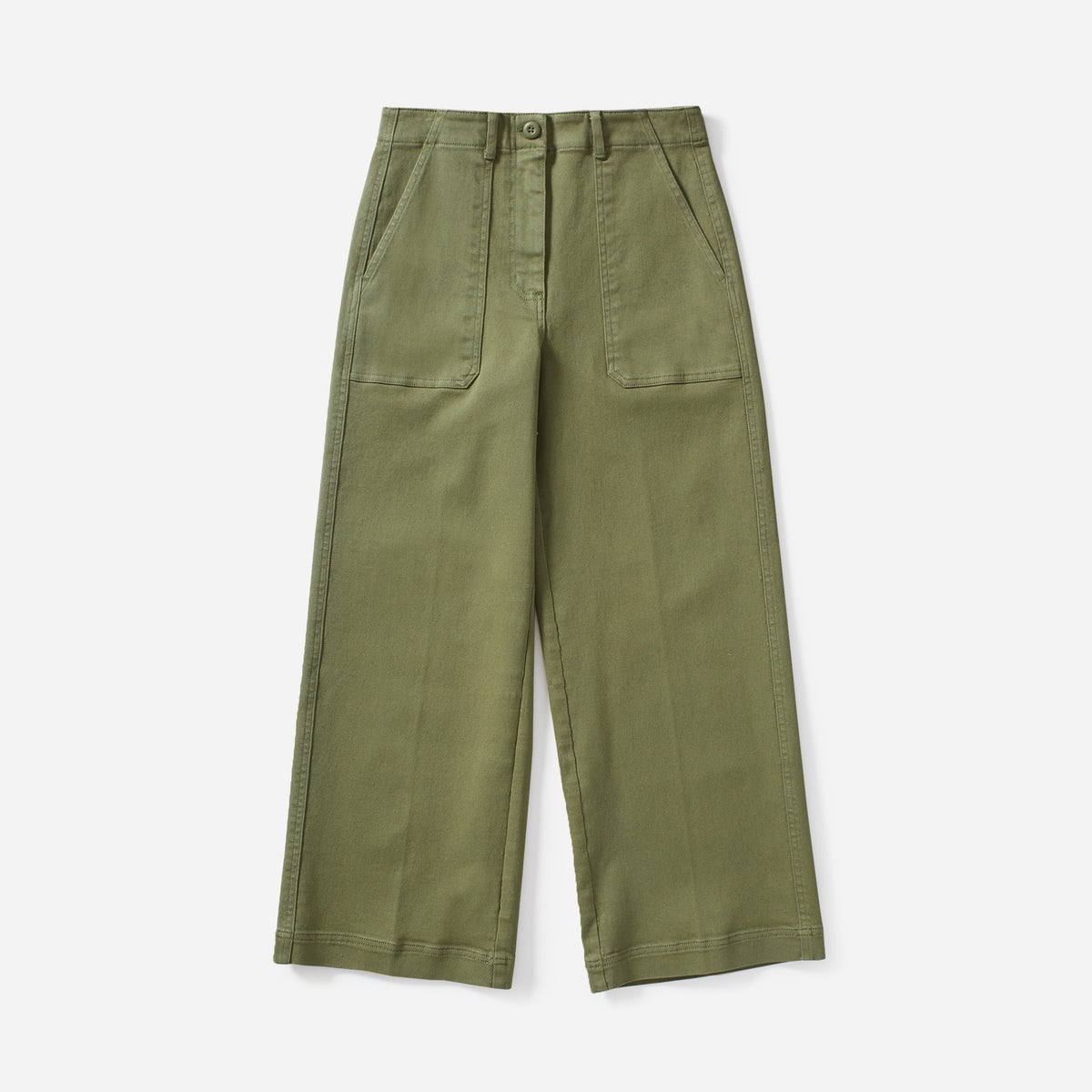 everlane wide cropped trousers
