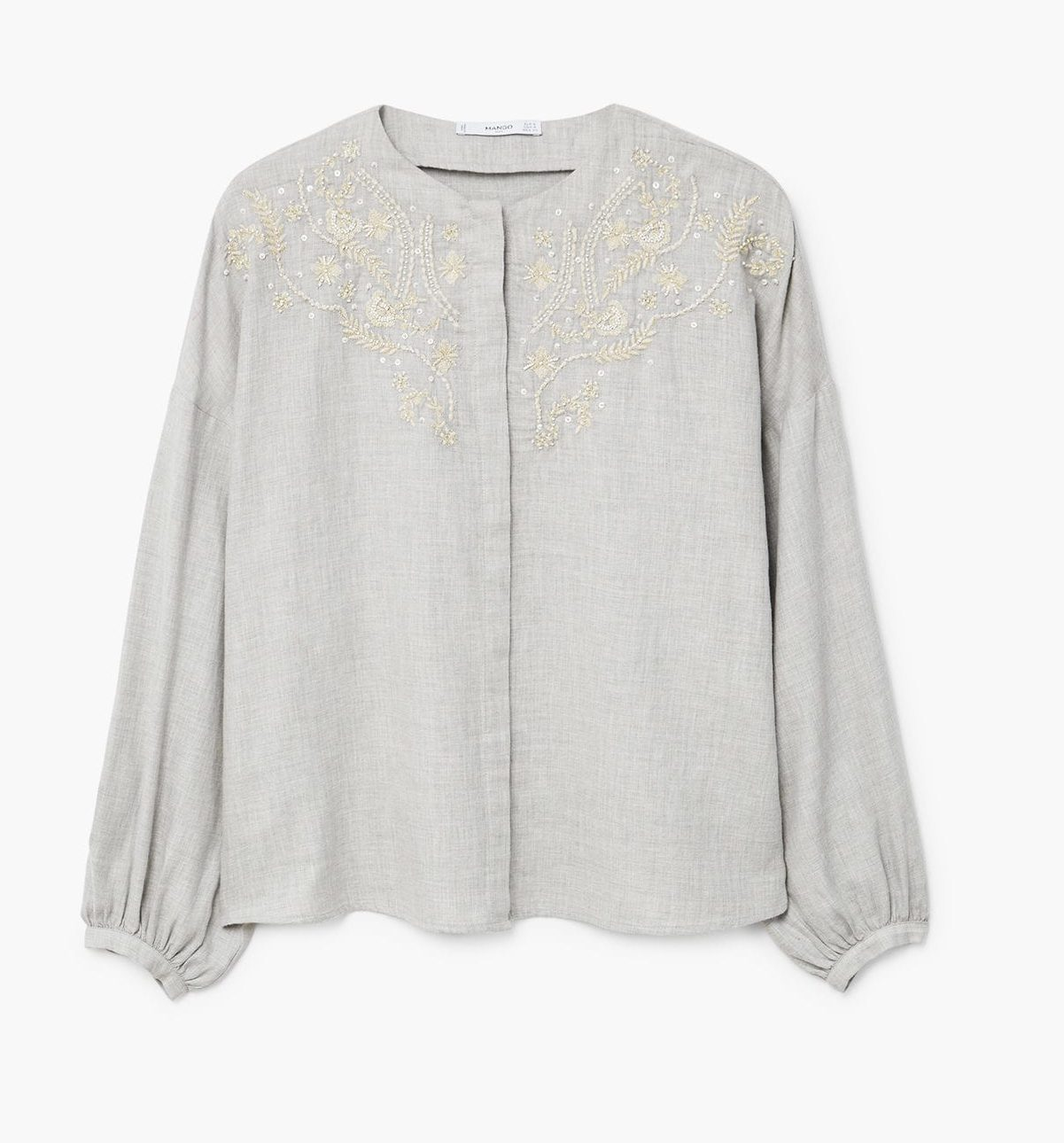 mango embroidered blouse