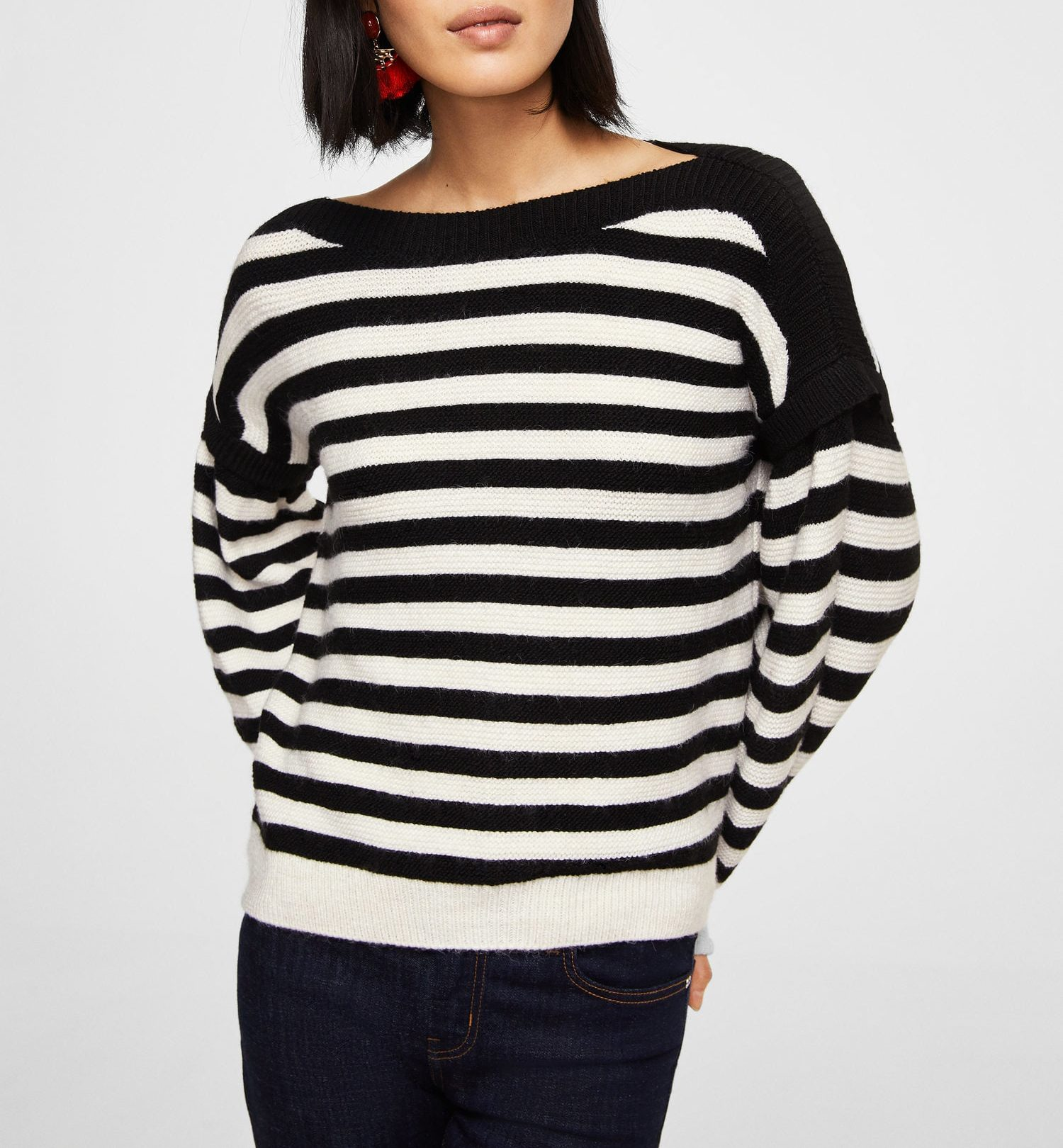 mango striped sweater
