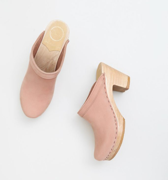 pink no 6 clogs