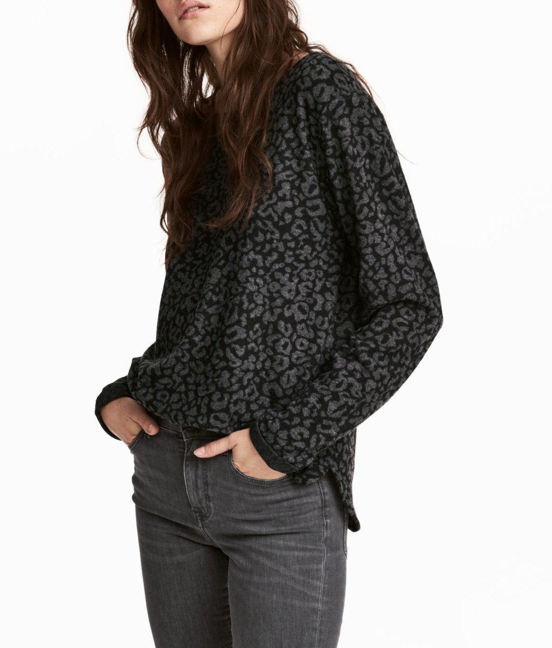 h&m leopard top