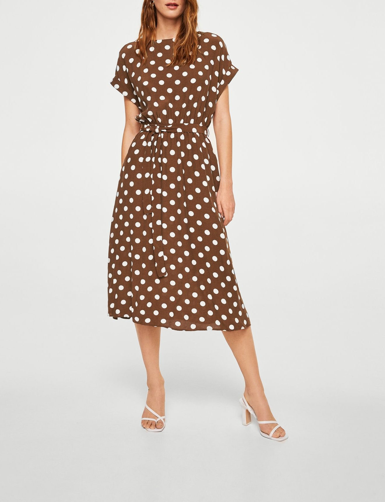mango dot dress