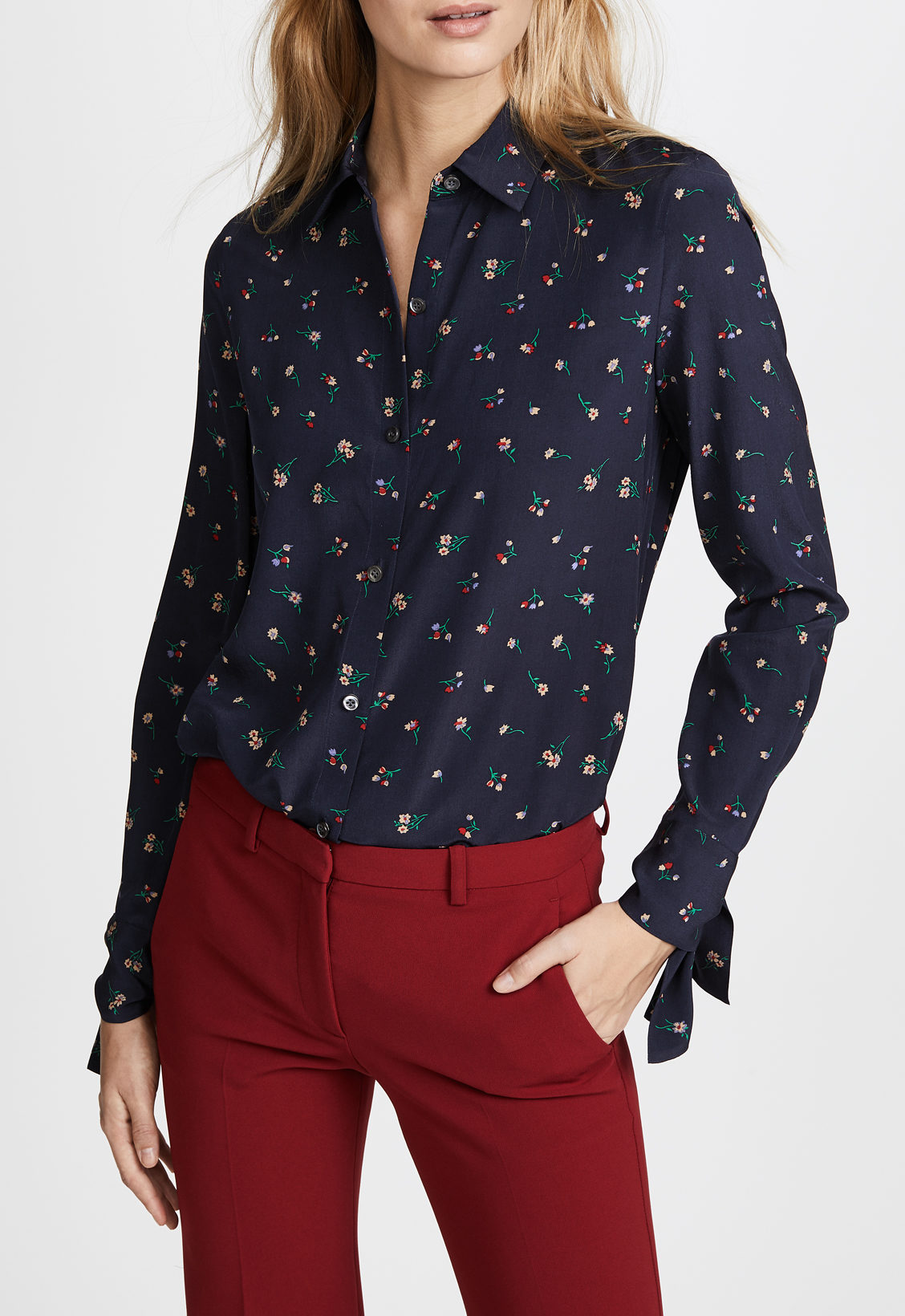 theory floral shirt